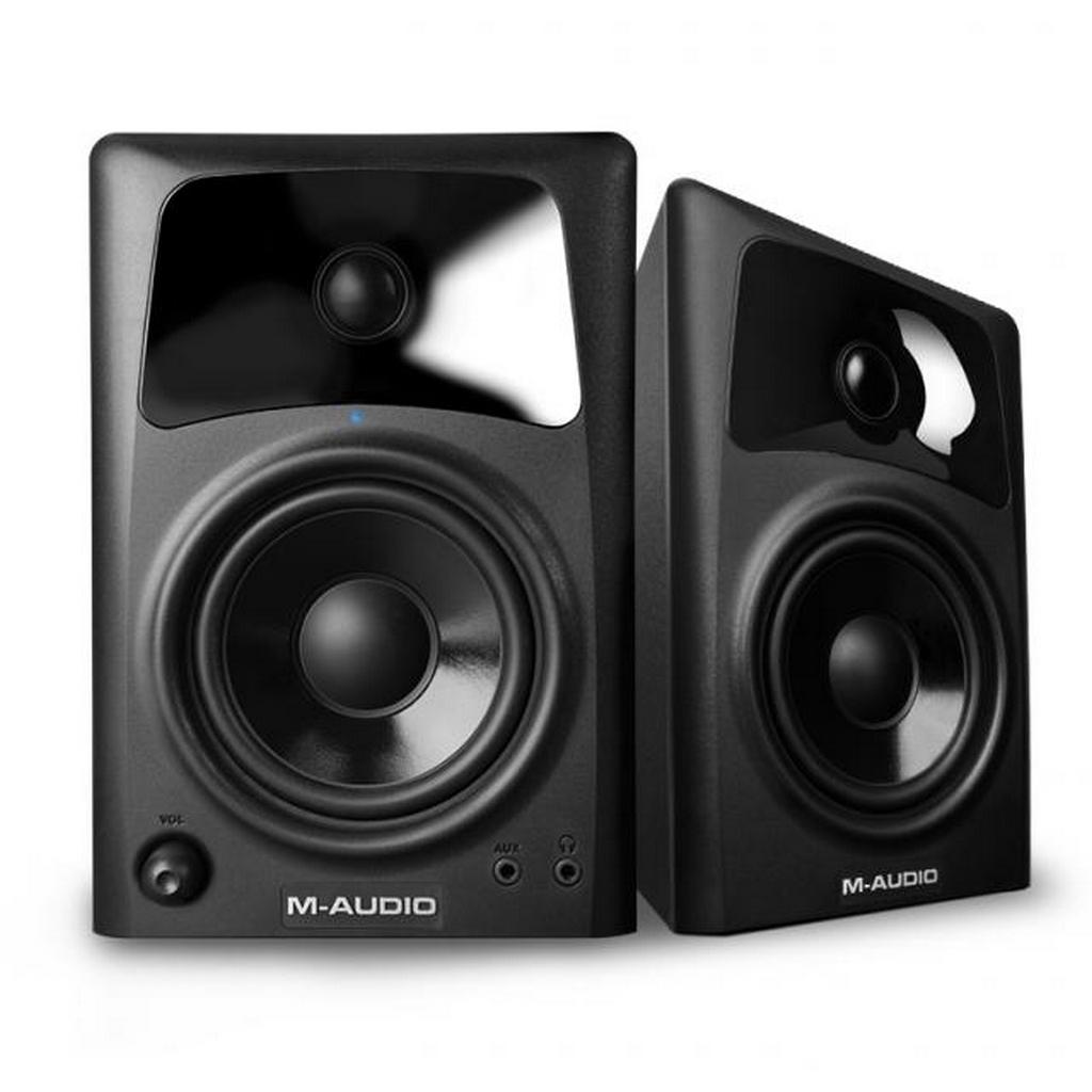 m audio av42 2 wege aktiv studio monitor lautsprecher paar f djs producer ebay. Black Bedroom Furniture Sets. Home Design Ideas