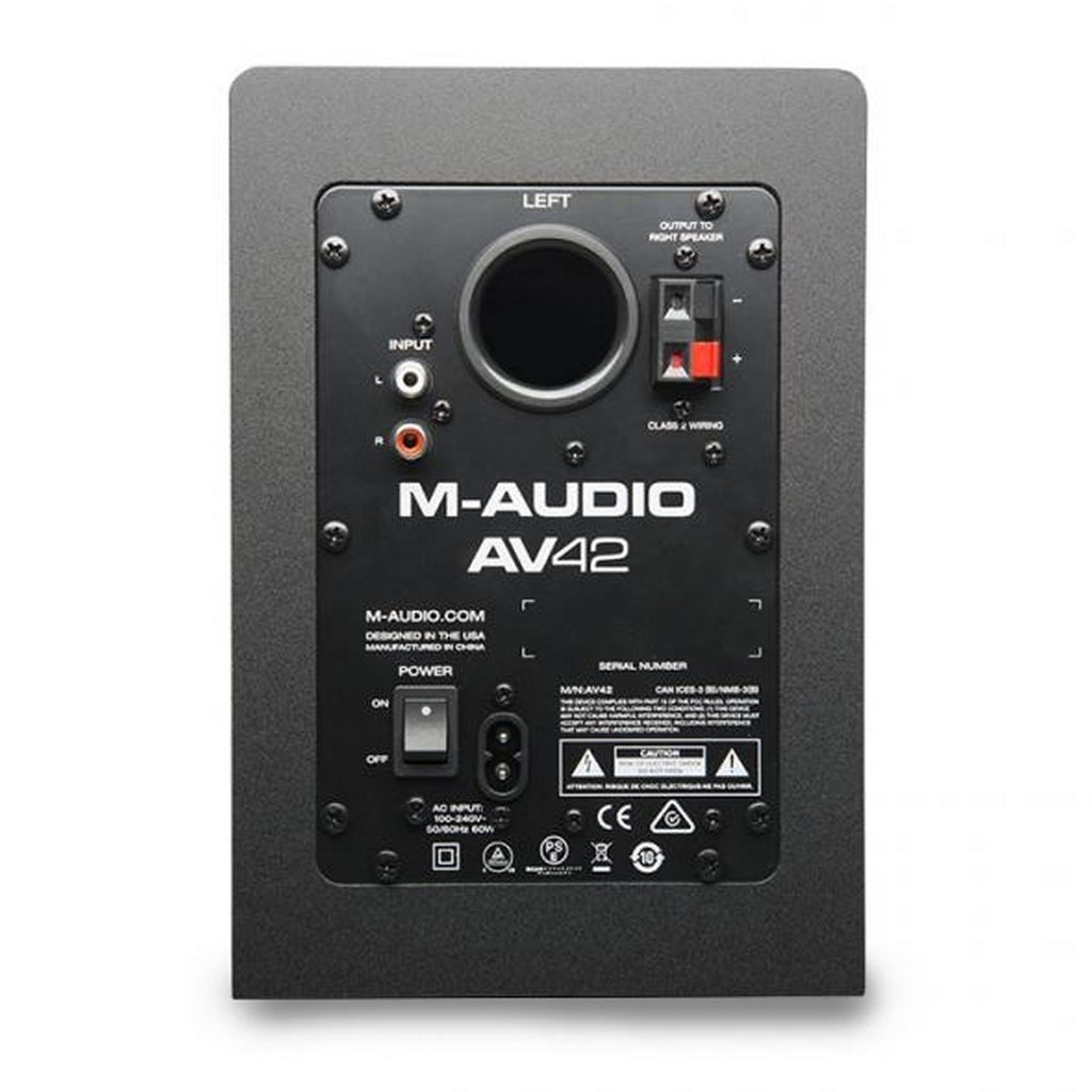 m audio av42 2 wege aktiv studio monitor lautsprecher. Black Bedroom Furniture Sets. Home Design Ideas