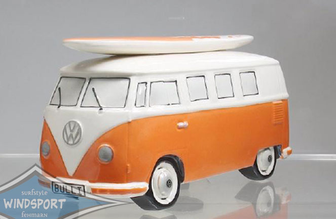 vw surf bulli t1 spardose uni orange vw bus lizensiert. Black Bedroom Furniture Sets. Home Design Ideas