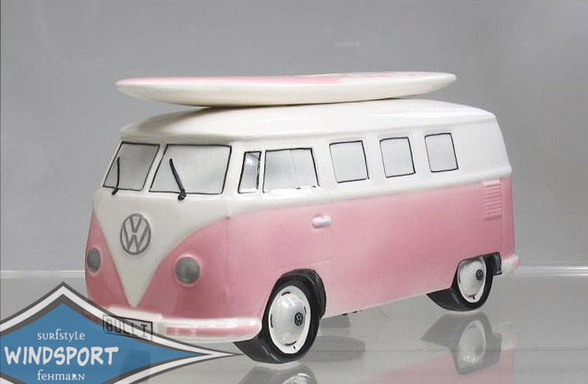 vw surf bulli t1 spardose uni rosa vw bus lizensiert. Black Bedroom Furniture Sets. Home Design Ideas