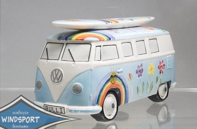 vw surf bulli t1 spardose hippie hellblau vw bus. Black Bedroom Furniture Sets. Home Design Ideas