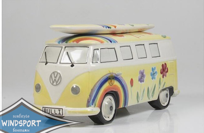 vw surf bulli t1 spardose hippie gelb vw bus lizensiert. Black Bedroom Furniture Sets. Home Design Ideas