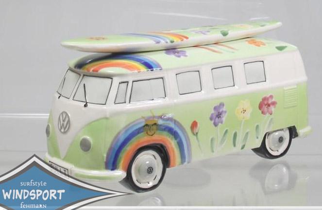 vw surf bulli t1 spardose hippie gr n vw bus lizensiert. Black Bedroom Furniture Sets. Home Design Ideas