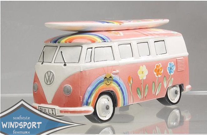vw surf bulli t1 spardose hippie orange vw bus lizensiert. Black Bedroom Furniture Sets. Home Design Ideas