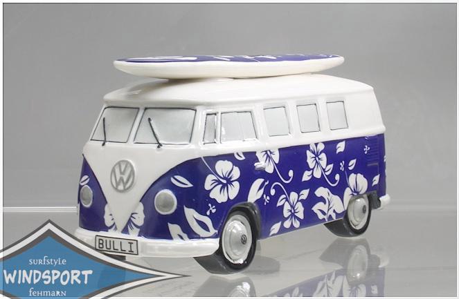 vw surf bulli t1 spardose hawaii dunkelblau vw bus. Black Bedroom Furniture Sets. Home Design Ideas