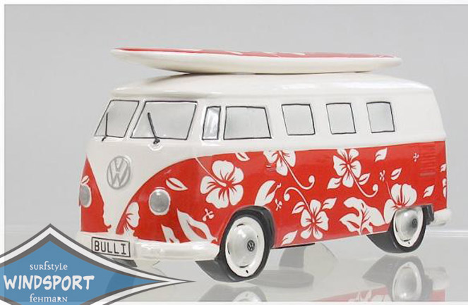 vw surf bulli t1 spardose hawaii rot vw bus lizensiert. Black Bedroom Furniture Sets. Home Design Ideas