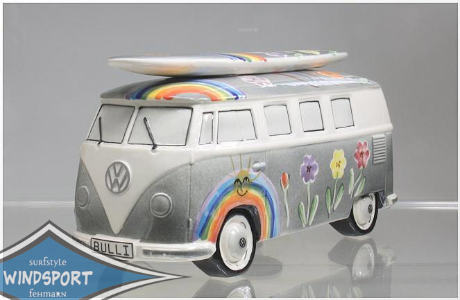 vw surf bulli t1 spardose hippie schwarz vw bus lizensiert. Black Bedroom Furniture Sets. Home Design Ideas
