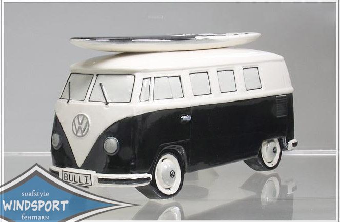 vw surf bulli t1 spardose uni schwarz vw bus lizensiert. Black Bedroom Furniture Sets. Home Design Ideas