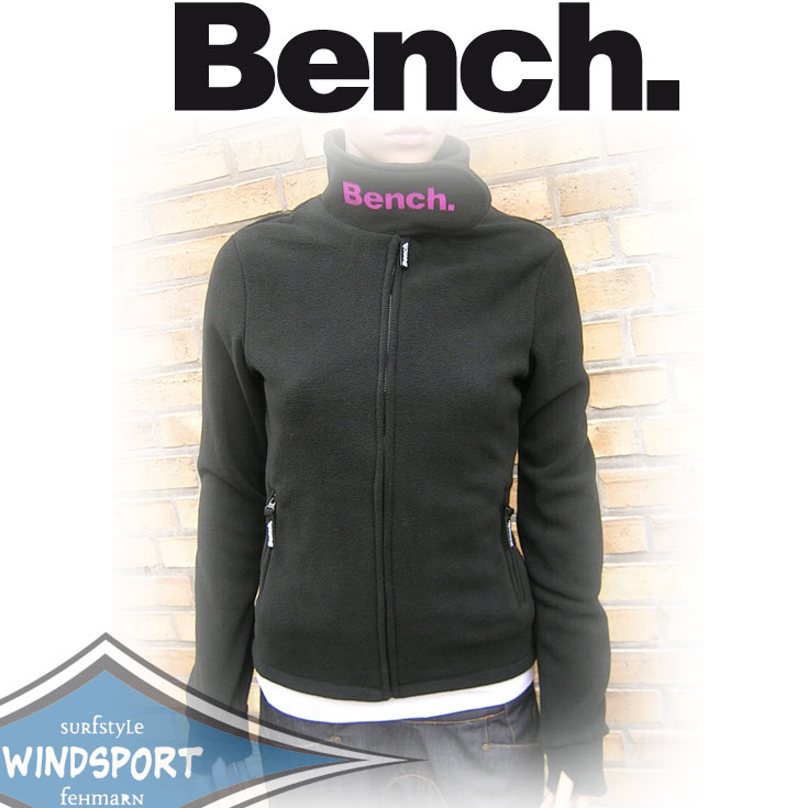 bench funnel neck fleece schwarz pink div gr en bk001. Black Bedroom Furniture Sets. Home Design Ideas