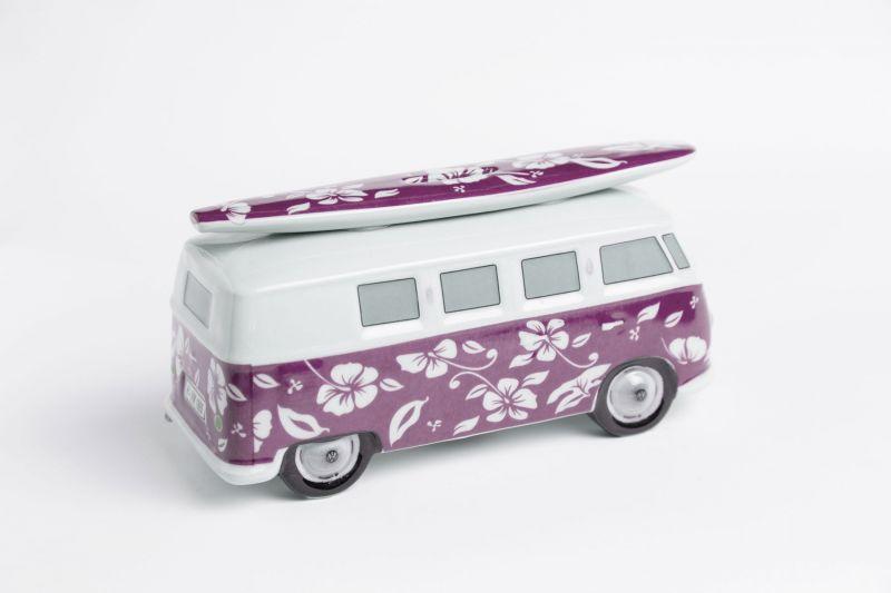 vw surf bulli t1 spardose hawaii violet vw bus lizensiert. Black Bedroom Furniture Sets. Home Design Ideas