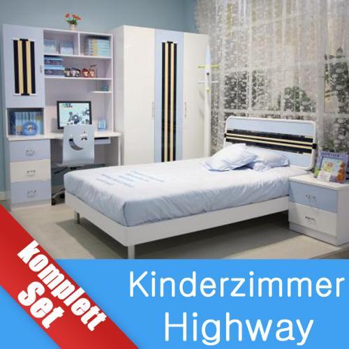 kinderzimmer komplett jugendzimmer highway kinderm bel komplettzimmer ebay. Black Bedroom Furniture Sets. Home Design Ideas