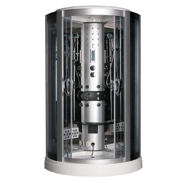 Glas Dusche Klappbar : Dampfdusche 100×100 Schwarz Dusche Sicherheits-Glas Radio Telefon Sitz