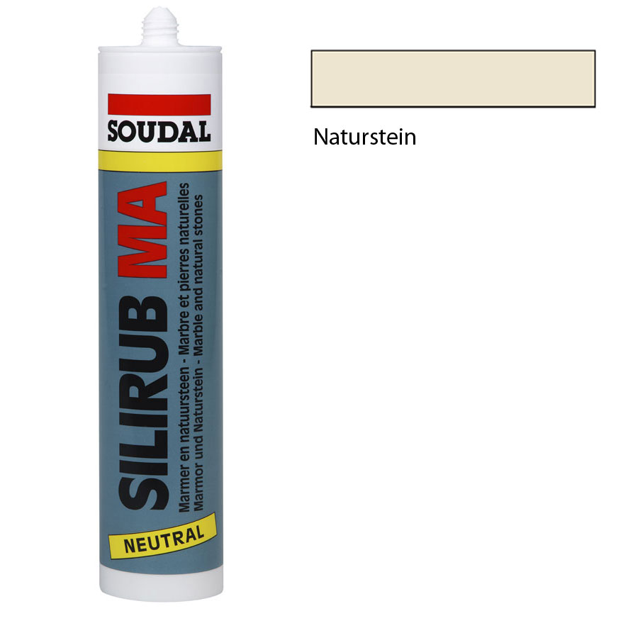 soudal silirub ma 310ml naturstein silikon kartusche. Black Bedroom Furniture Sets. Home Design Ideas