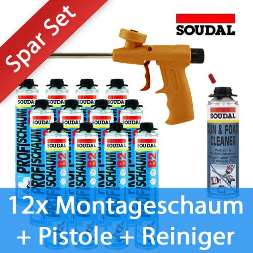 sparset 12x soudal profi pistolenschaum pu schaum b2 pistole reiniger ebay. Black Bedroom Furniture Sets. Home Design Ideas