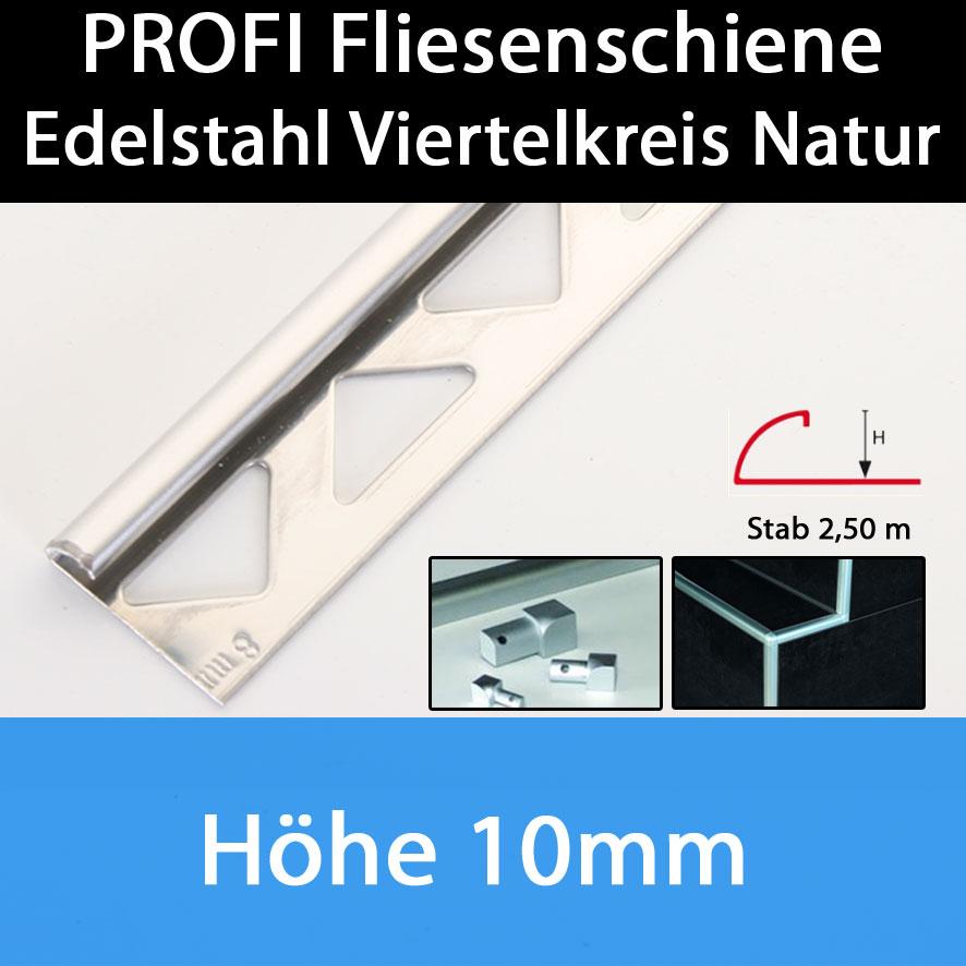 sparset 10x edelstahl fliesenschiene fliesenprofil. Black Bedroom Furniture Sets. Home Design Ideas