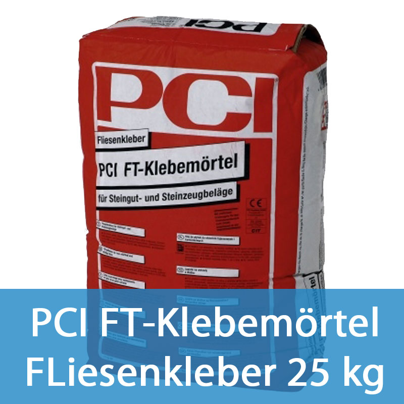 0 76eur kg pci ft klebem rtel fliesenkleber kleber steingut grau 25 kg. Black Bedroom Furniture Sets. Home Design Ideas
