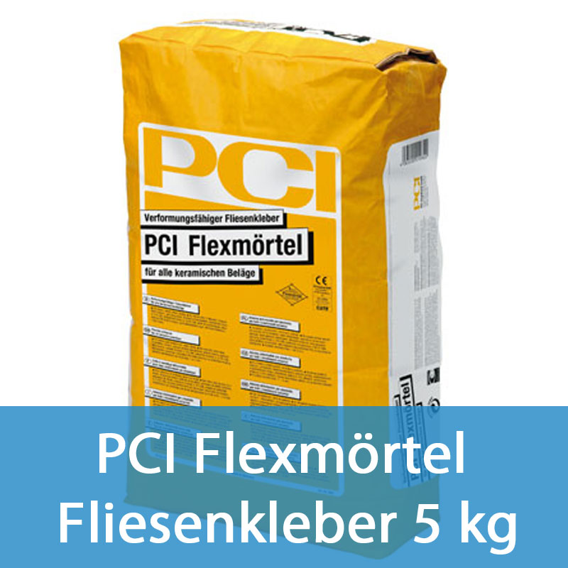 2 18eur kg pci flexm rtel fliesenkleber 5 kg grau ebay. Black Bedroom Furniture Sets. Home Design Ideas