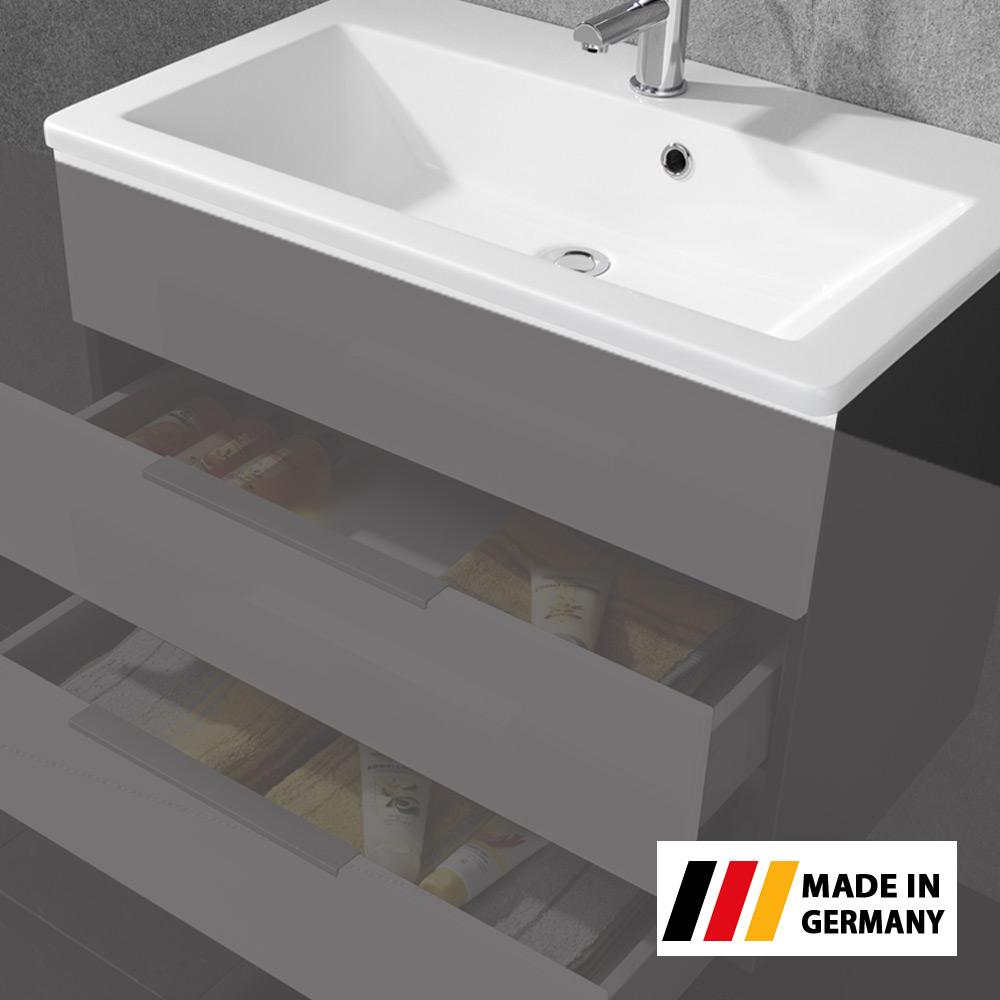 fackelmann waschbecken domino wei 80x17x50cm ebay. Black Bedroom Furniture Sets. Home Design Ideas