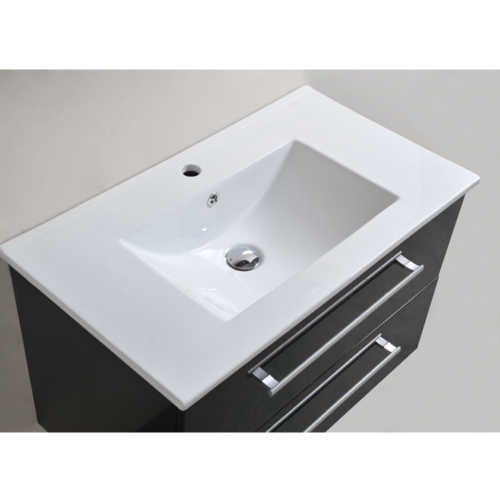 badm bel set badezimmer badezimmerm bel komplett montiert in anthrazit hochglanz ebay. Black Bedroom Furniture Sets. Home Design Ideas