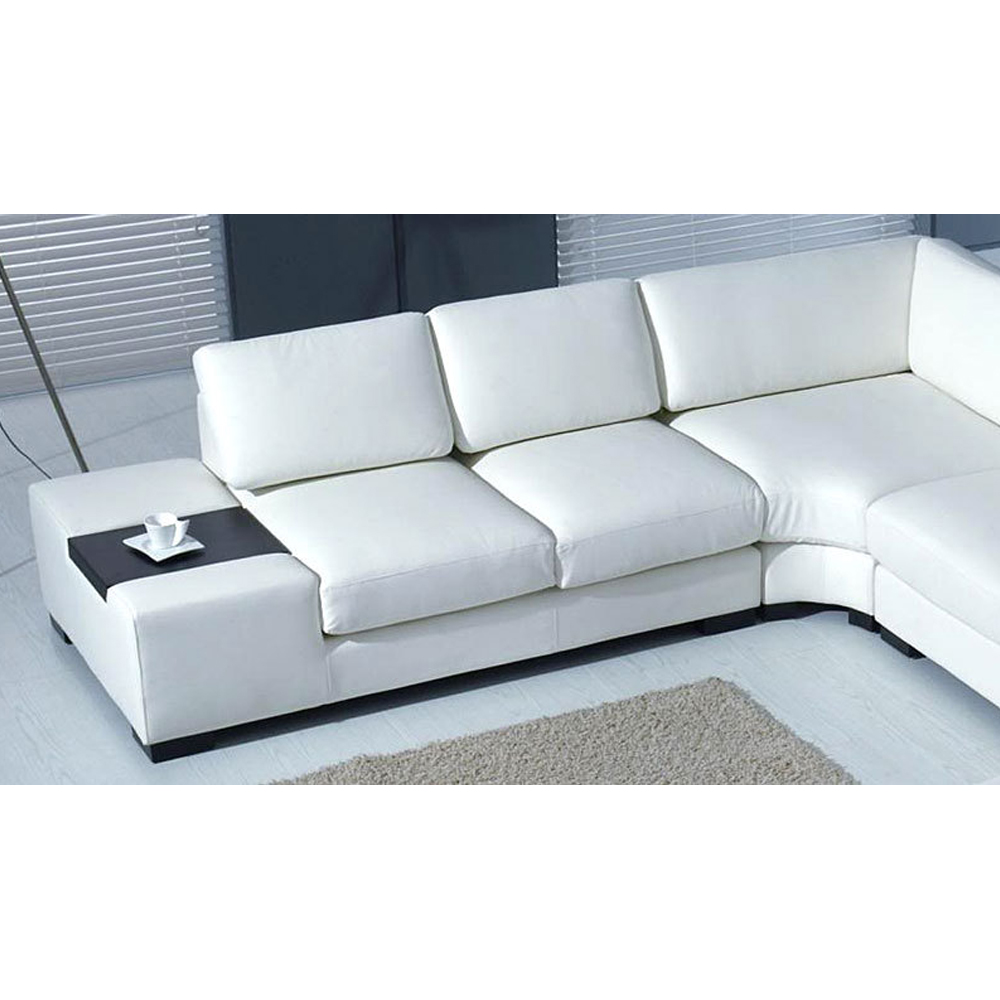 Luxus design wohnlandschaft ledersofa couch leder sofa garnitur beige weiss ebay for Sofa garnitur