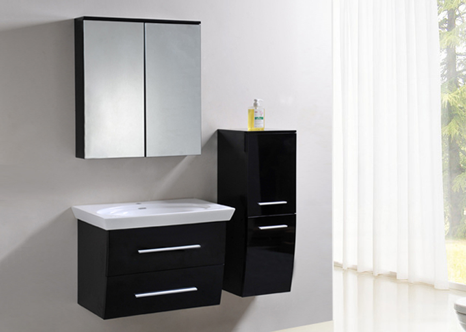 badm bel badezimmer set badezimmerm bel komplett montiert in anthrazit hochglanz ebay. Black Bedroom Furniture Sets. Home Design Ideas