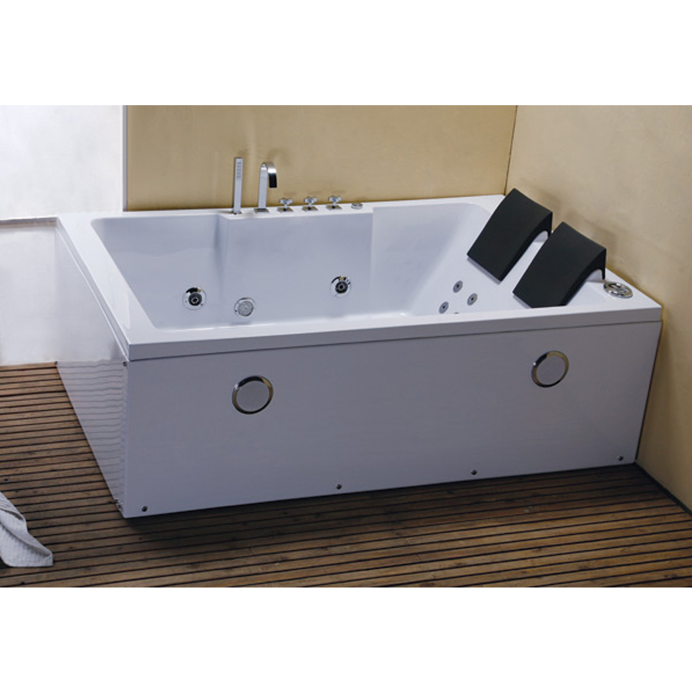 whirlpool rechteck badewanne wanne pool spa bad indoor 2 personen ebay. Black Bedroom Furniture Sets. Home Design Ideas
