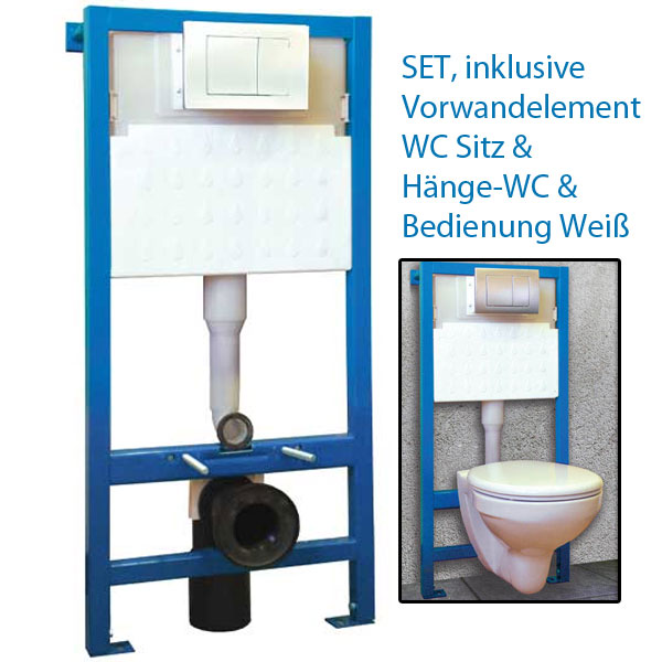 set vorwandelement wc sp lkasten wc sitz toilette neu von. Black Bedroom Furniture Sets. Home Design Ideas