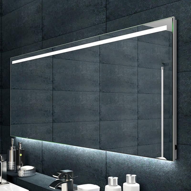 design badezimmerspiegel alu rahmen led beleuchtung 140x60 cm spiegel badspiegel ebay. Black Bedroom Furniture Sets. Home Design Ideas