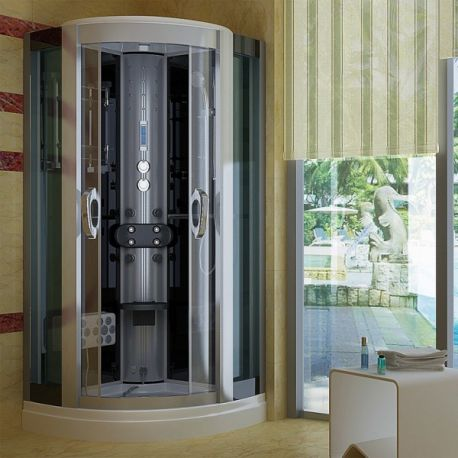 wellness dampfdusche 100x100 schwarz dusche sicherheits. Black Bedroom Furniture Sets. Home Design Ideas