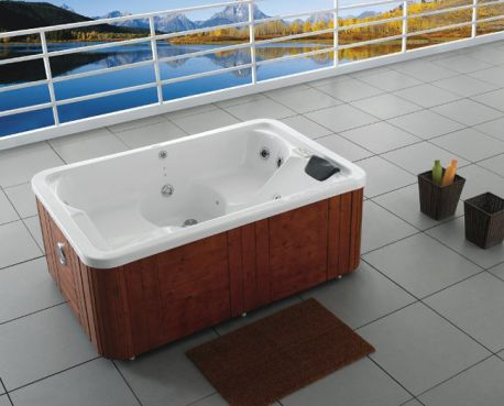 outdoor whirlpool ibado vw 715 mit radio 3 personen neu ebay. Black Bedroom Furniture Sets. Home Design Ideas