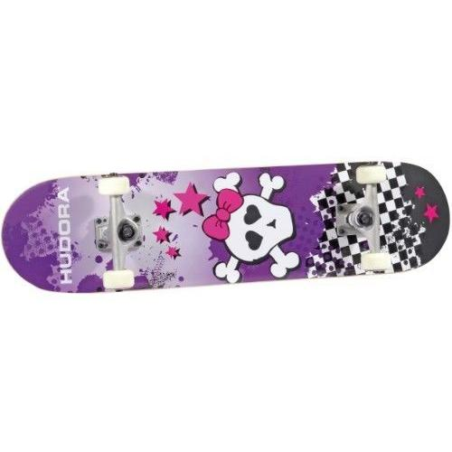 hudora 12549 skateboard skull abec 5 ebay. Black Bedroom Furniture Sets. Home Design Ideas