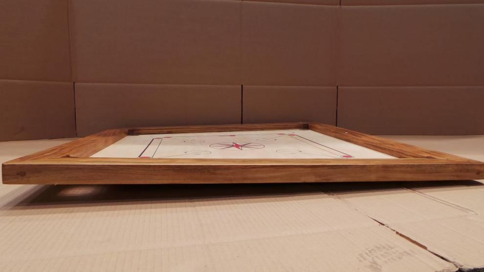 bergames carrom turnier set 12kgs 12mm mango spielfl che aus hochwertigem eco ebay. Black Bedroom Furniture Sets. Home Design Ideas