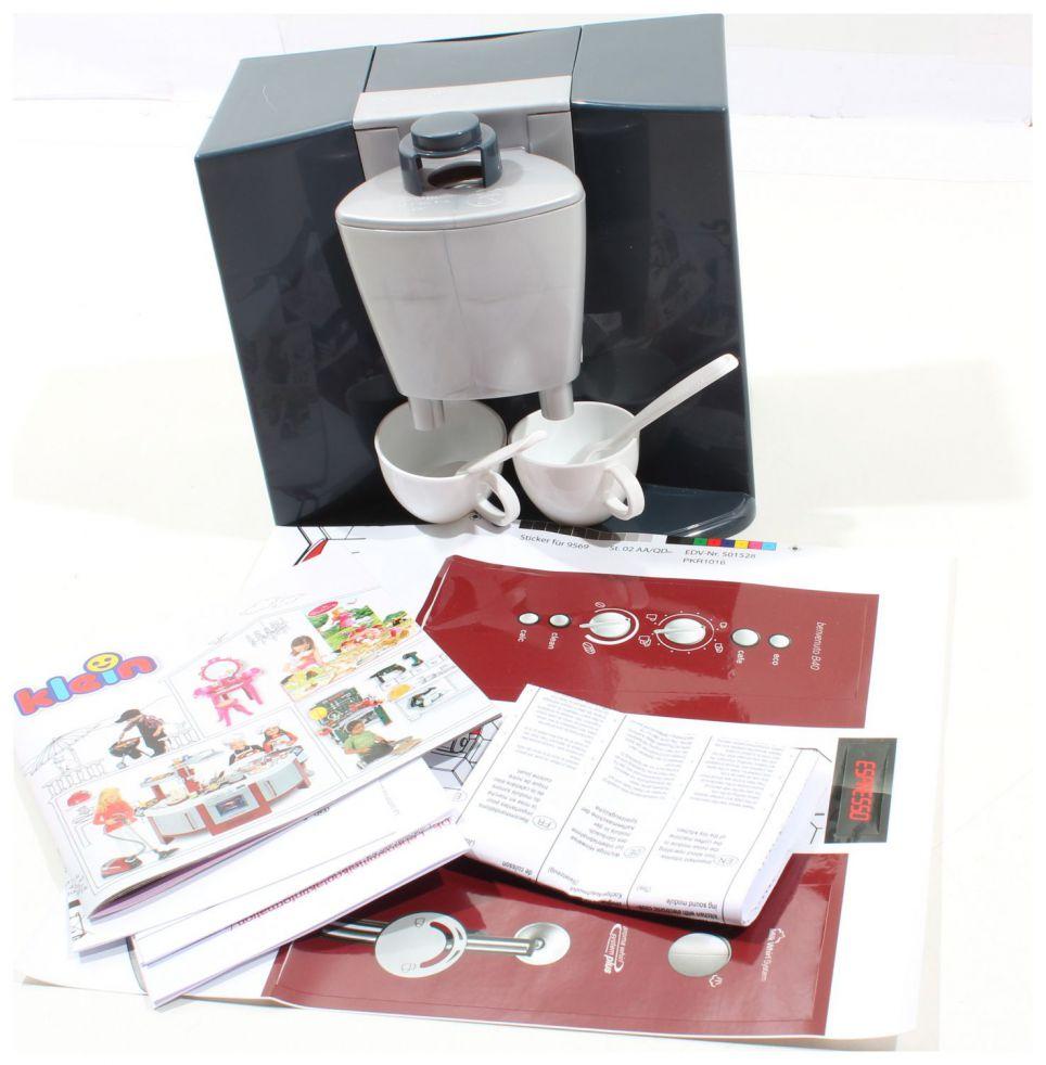 theo klein 9569 bosch kaffeemaschine mit sound 2 teller fehlen ebay. Black Bedroom Furniture Sets. Home Design Ideas