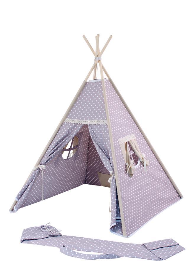 teepee kinder spielzelt tipi indianerzelt 100 baumwolle kotex 100 rose h 150cm ebay. Black Bedroom Furniture Sets. Home Design Ideas