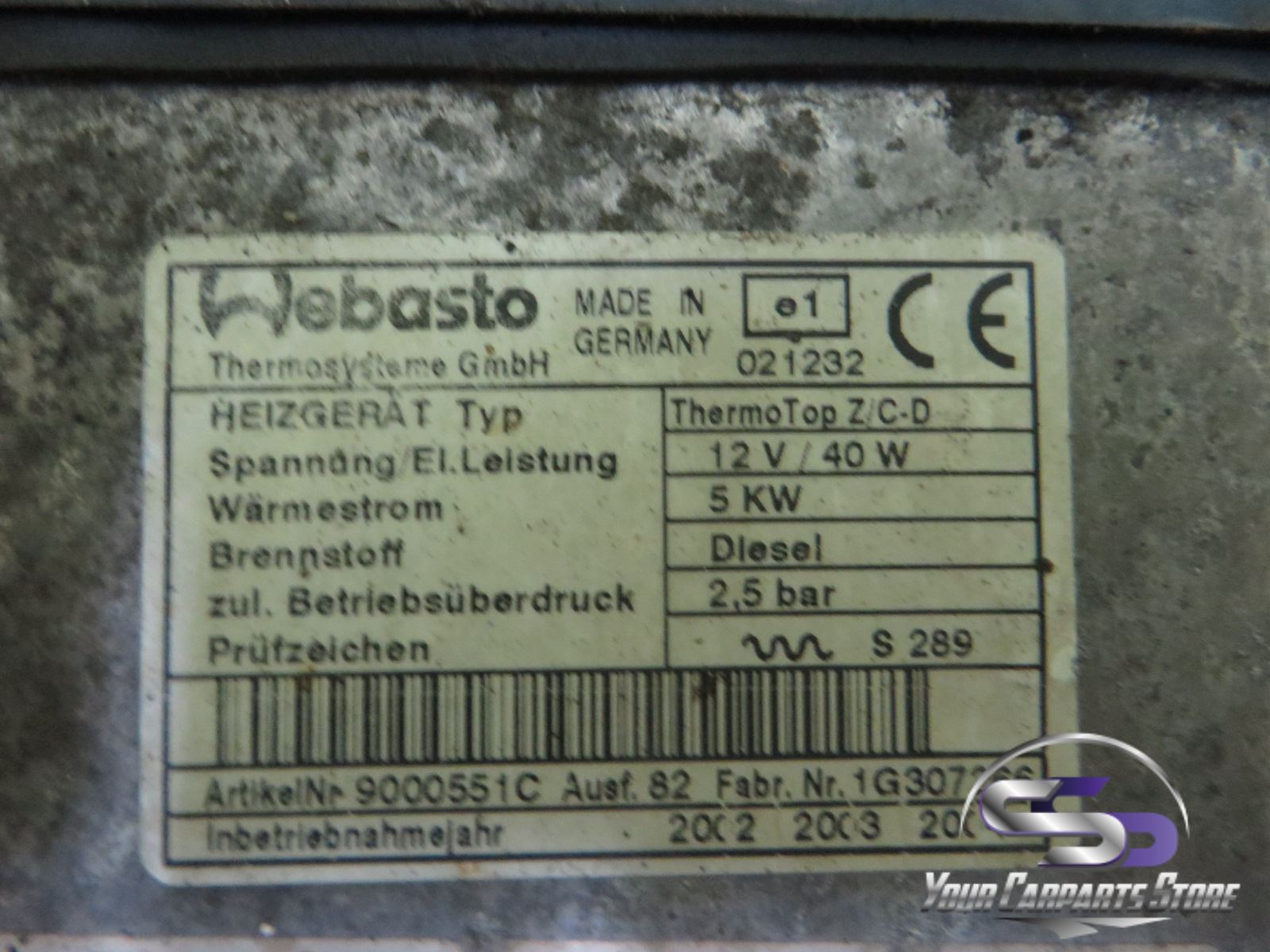 Mercedes C W203 S203 Standheizung Webasto Thermo Top C