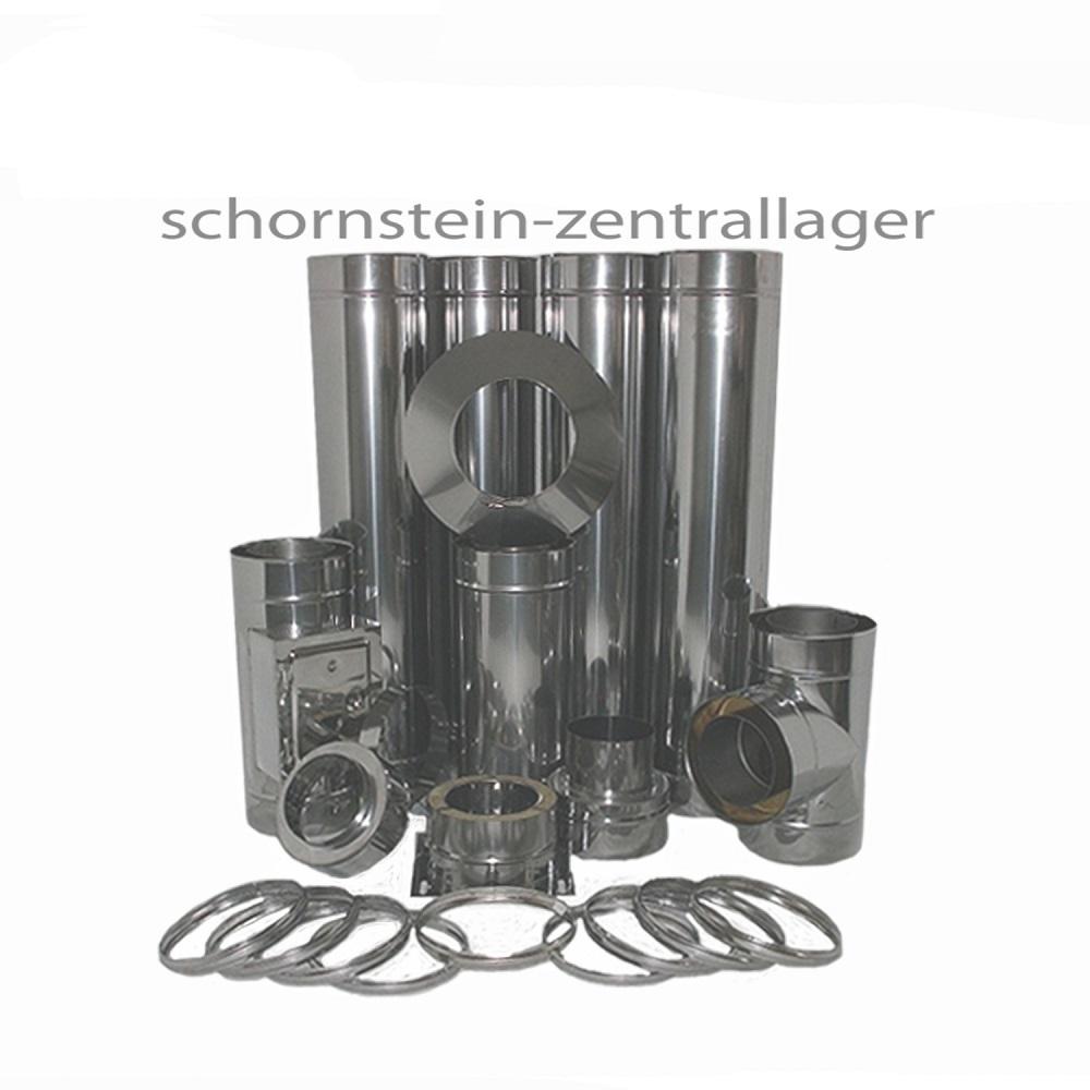edelstahlschornstein bausatz dw 150 h he 5 7 m schornstein doppelwandig ebay. Black Bedroom Furniture Sets. Home Design Ideas