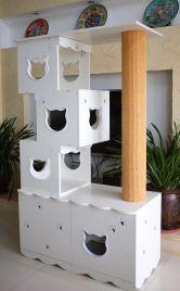 katzenbaum kratzstange katzenkratzbaum und katzentoilette katzenklo komfort c d2 ebay. Black Bedroom Furniture Sets. Home Design Ideas