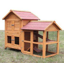 kaninchenstall kleintierhaus hasenstall kleintierk fig de luxe ebay. Black Bedroom Furniture Sets. Home Design Ideas