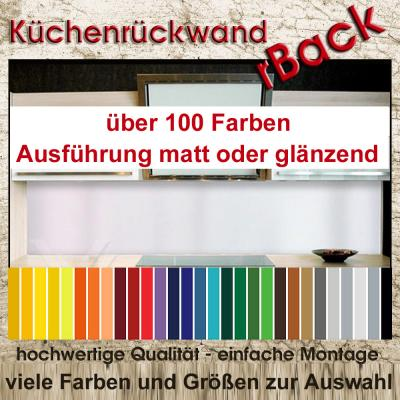 k chenr ckwand spritzschutz wandverkleidung fliesenspiegel 100 farben uni ebay. Black Bedroom Furniture Sets. Home Design Ideas