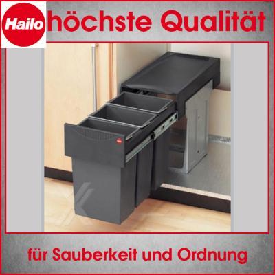 abfallsammler m lleimer einbau abfalleimer hailo terzett 49 3666 13 30 liter. Black Bedroom Furniture Sets. Home Design Ideas