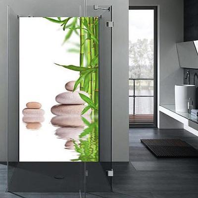 R ckwand dusche wandbild fliesenersatz badezimmer wandpaneel bambus ebay - Bambus badezimmer ...