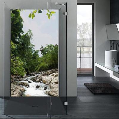 Duschwand-Badezimmer-Wandbild-Fliesenersatz-Dusche ...