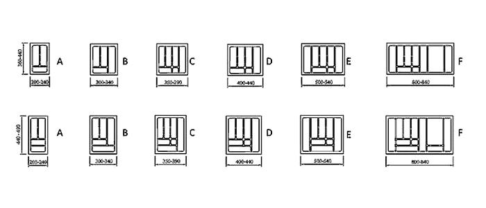 besteckeinsatz besteckkasten schubkasten einsatz besteck kunststoff h he 5cm ebay. Black Bedroom Furniture Sets. Home Design Ideas