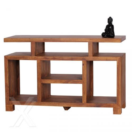 sideboard tv rack schrank regal standregal aus sheesham. Black Bedroom Furniture Sets. Home Design Ideas