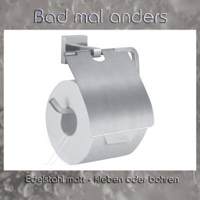 rollenhalter klopapierhalter toilettenpapier halter edelstahl kleben oder bohren ebay. Black Bedroom Furniture Sets. Home Design Ideas
