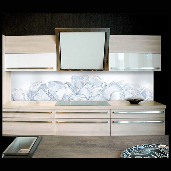 spritzschutz k chenr ckwand herd r ckwand viele gr en motiv eisw rfel 50cm hoch ebay. Black Bedroom Furniture Sets. Home Design Ideas