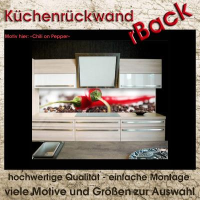 k chenr ckwand fliesenspiegel spritzschutz viele gr en motiv chili pepper h60cm ebay. Black Bedroom Furniture Sets. Home Design Ideas