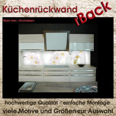 spritzschutz k chenr ckwand herd r ckwand viele gr en motiv orchideen 50cm hoch ebay. Black Bedroom Furniture Sets. Home Design Ideas