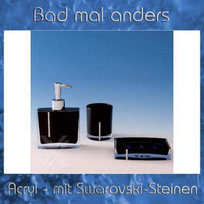 seifenspender seifenschale zahnputzbecher acryl swarovski. Black Bedroom Furniture Sets. Home Design Ideas
