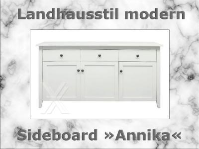 Sideboard Schrank Kommode Esszimmerschrank in weiß lackiert mit 3 ... | {Esszimmerschrank weiß 60}